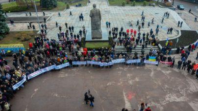 У Житомирі зібрався мітинг за покращення соціального життя