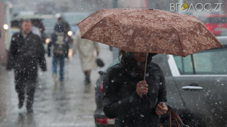 У Житомирі можливий дощ зі снігом