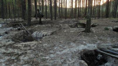 За незаконним видобутком бурштину затримали 6 старателів з інших областей