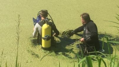 У забруднені річки у Баранівському районі спустилися водолази