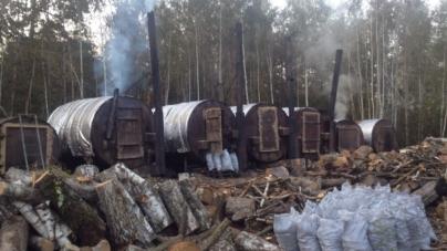 СБУ ліквідувала 23 діжки для випалювання деревного вугілля