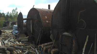 На покинутій фермі та у колишньому кар'єрі незаконно виробляли деревне вугілля