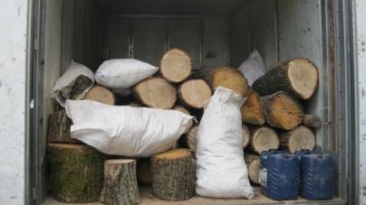 Поліція затримала вантажівку з деревиною на 100 тисяч гривень