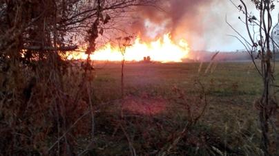 На Овруччині вогонь з поля ледь не перекинувся на житлові будинки