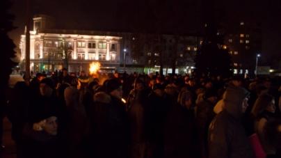 Житомиряни відзначили День Гідності та Свободи на майдані імені Корольова (ФОТО)