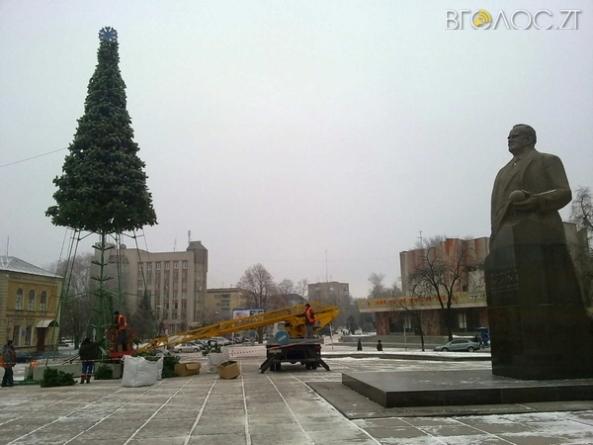 До Дня святого Миколая у Житомирі встановлять новорічну ялинку