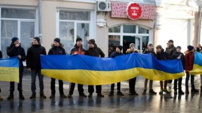 День Соборності у Житомирі: сотні містян разом утворили «живий» ланцюг (ФОТО)