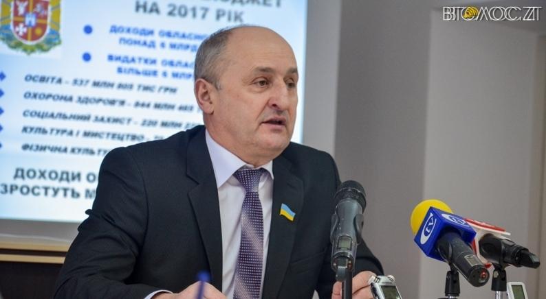 Доходи голови Житомирської облради за рік виросли на понад 93,5 тисяч