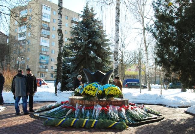 """Біля """"Чорного тюльпана"""" у Житомирі вшанували пам'ять воїнів-інтернаціоналістів (ФОТО)"""