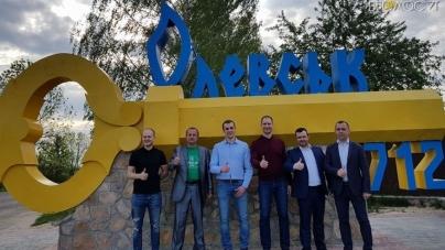 Чемпіон світу з плавання, нардеп Денис Сілантьєв відвідав Олевськ