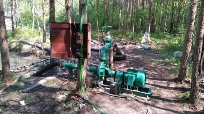 Олевщина: львів'яни облаштували в лісі потужну старательську станцію з видобутку бурштину(ФОТО)