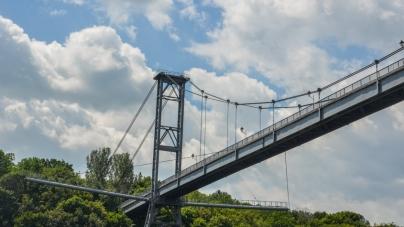 Підвісний міст «закоханих» над Тетеревом (ФОТО)
