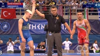 Житомирський студент став найсильнішим молодим борцем світу у вазі до 63 кг