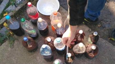 36-річний селянин зберігав вдома 30 пляшок наркотиків