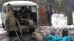 На півночі області знову «накрили» три групи старателів, які розгорнули нелегальний видобуток бурштину (ФОТО)