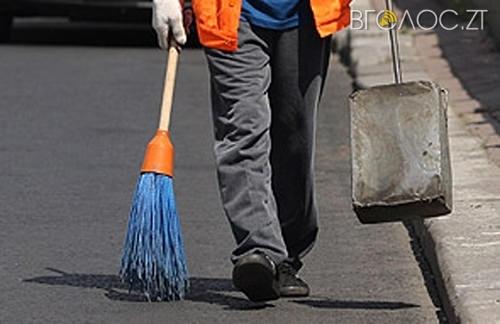 Тендер на прибирання тротуарів у Житомирі скасували через брак коштів