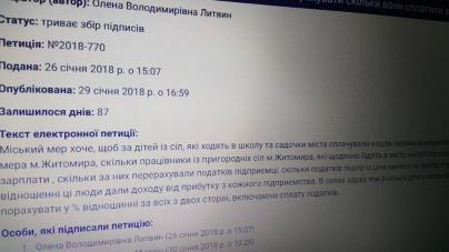 У житомирській мерії призупинили реєстрацію нових петицій
