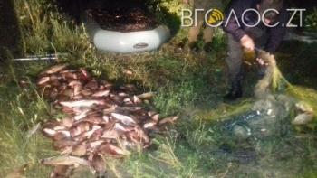 Майже 100 кг риби виловив браконьєр у Житомирському районі