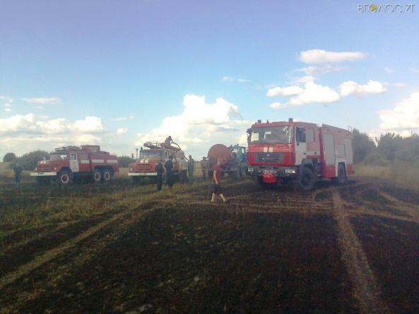 У Ємільчинському районі горіло понад 20 гектарів посівів пшениці