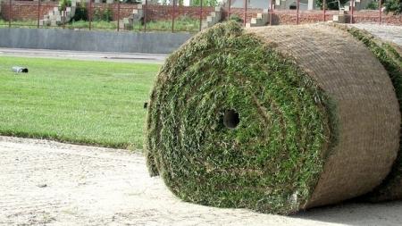Як на стадіоні «Полісся» сучасною технікою укладають траву (ФОТО)