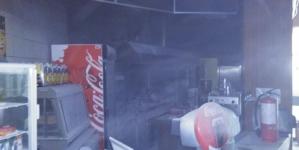 Поліція розслідує обставини пожежі у кафе ТЦ «Голобал»