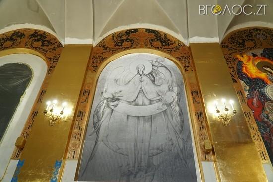 У Михайлівському соборі збирають кошти, щоб завершити настінні розписи