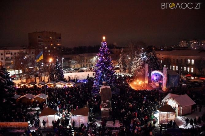 Як виглядають «головні» новорічні ялинки Житомирщини (ФОТО)