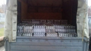 У ГАЗі, який зупинили правоохоронці, знайшли майже 8 тисяч пляшок «підробленого» алкоголю