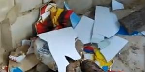 У Баранівському районі розгромили придорожню капличку
