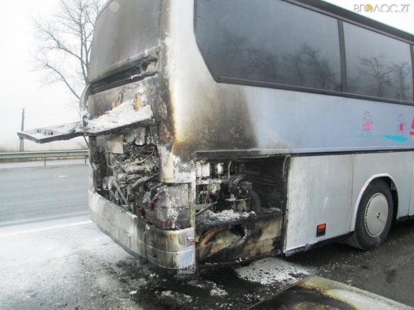 Житомирщина: прямо на ходу загорівся міжнародний автобус