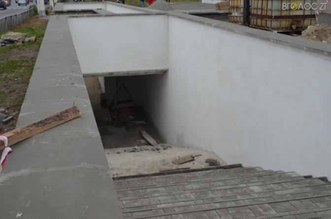 Після двох місяців реконструкції посипався підземний перехід у Житомирі