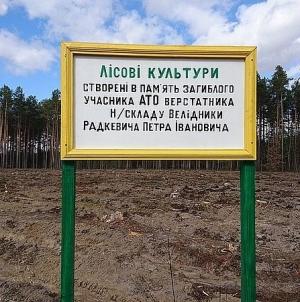 На Житомирщині в пам'ять про загиблих воїнів-лісівників посадили ліс