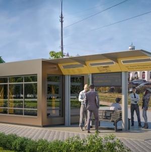 Головний архітектор Житомира показав, як виглядатимуть трамвайні зупинки у центрі міста