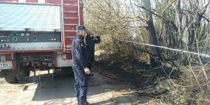 На півночі області через навмисний підпал сухої трави згоріли будинок, сарай та літня кухня
