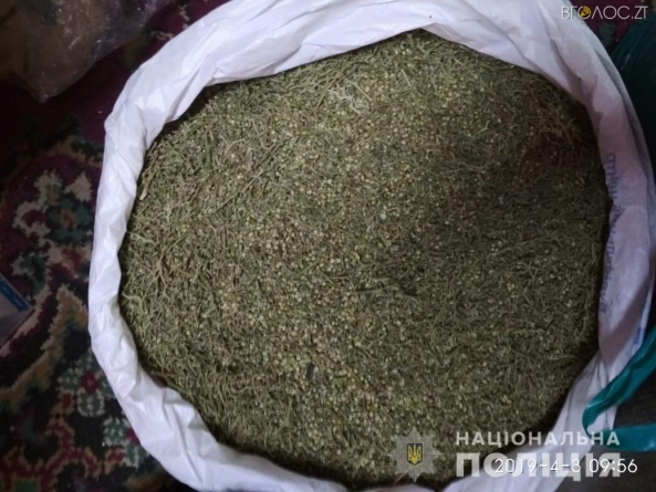 У домівці житомирянина поліцейські вилучили 10 кг марихуани