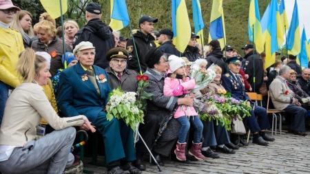 Як у Житомирі відзначили 74-ту річницю перемоги над нацизмом у Другій світовій війні