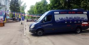 До Житомира на один день приїхав «Євробус», який мандрує містами України