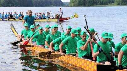 У Житомирі відбулись змагання з веслування на драгонботах «Teteriv Dragon»