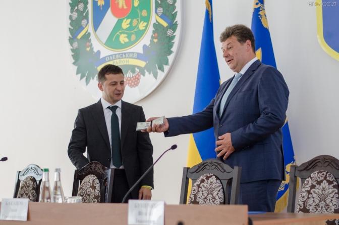Візит до Житомирщини Зеленський розпочав з призначення голови ОДА (ФОТО)