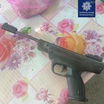 Поліцейські затримали житомирянина, який іншому чоловіку вистрелив у голову
