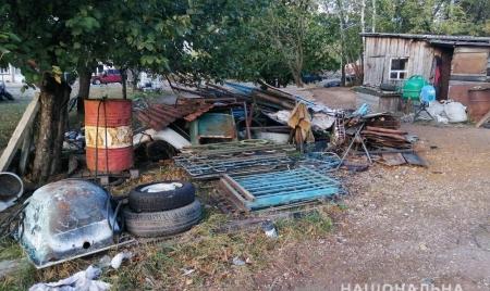1,5 тонни лому, ваги та чорнову бухгалтерію вилучили з нелегального пункту прийому металобрухту на півночі області