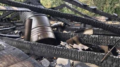 У Житомирі згоріла приватна лазня