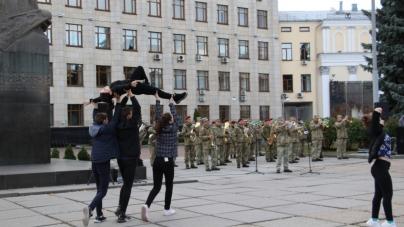 На майдані Корольова відбулася репетиція урочистостей до Дня захисника України