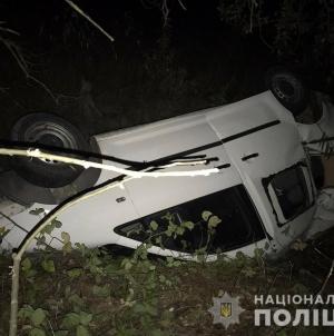 У Новоград-Волинському районі автівка злетіла у кювет: постраждали двоє людей