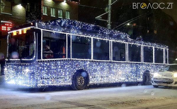 На новорічно-різдвяні свята у Житомирі транспорт працюватиме в нічний час