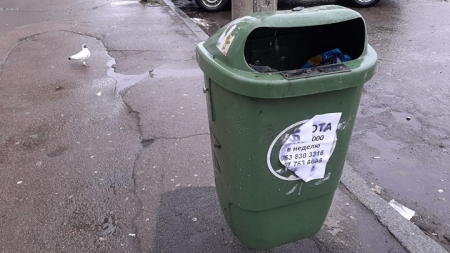 Гроші у смітник: у Житомирі вдруге придбали зелені пластикові урни. Попередні згоріли