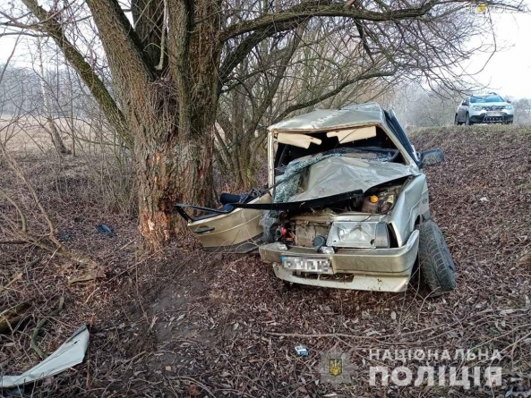 Жахлива ДТП на Житомирщині: автомобіль влетів у дерево. Загинули двоє людей