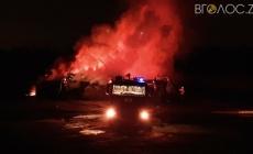 У поліції розповіли, чому горіла будівля кафе під Житомиром