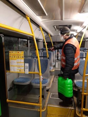 У ТТУ щоночі дезінфікують громадський транспорт