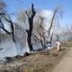 У Ліщині, де горіла суха трава, знайшли обгоріле тіло чоловіка